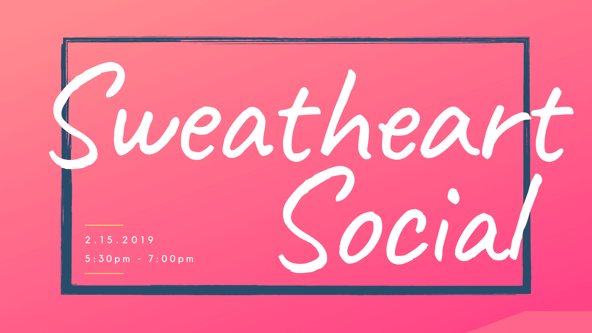 Sweatheart Social 2019 - Website Image