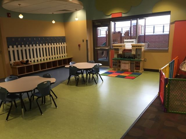 Kids Center table and chairs in play area