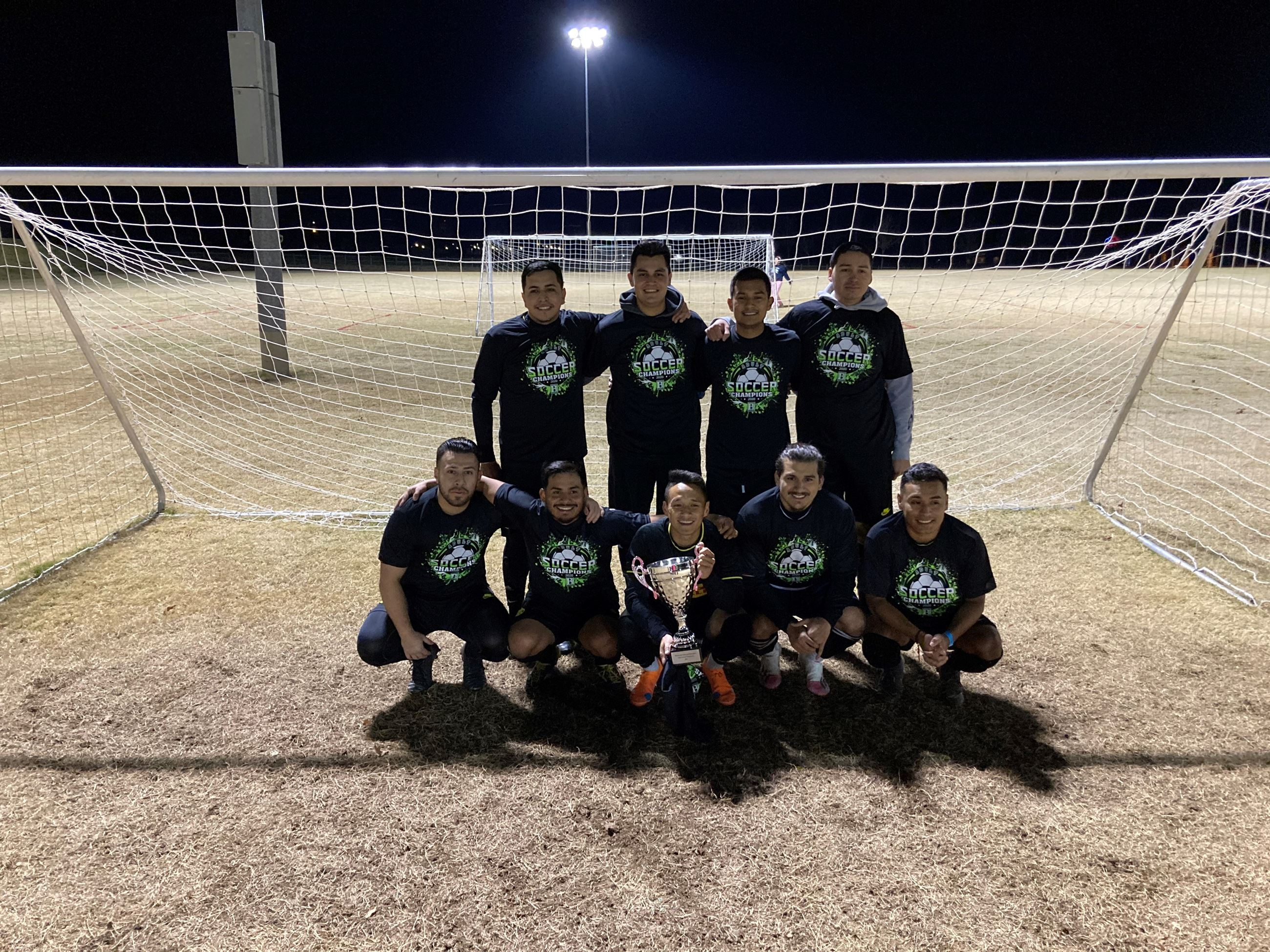 2020 BPR Adult Soccer - Thursday Competitive Champion - Mapaches FC