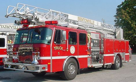 Truck 1 Red Fire truck with ladder