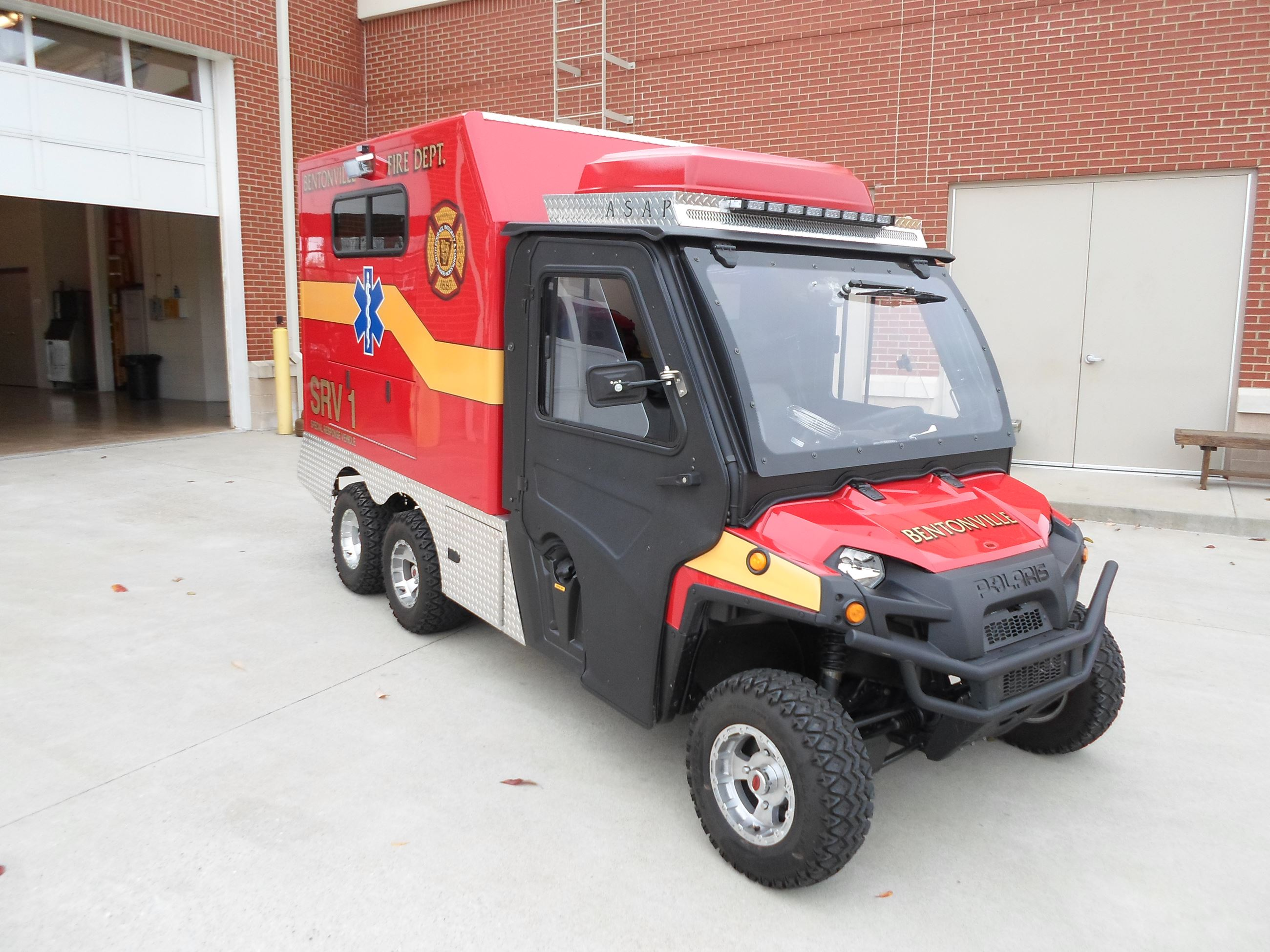 SRV-1 Black and red ATV type ambulance