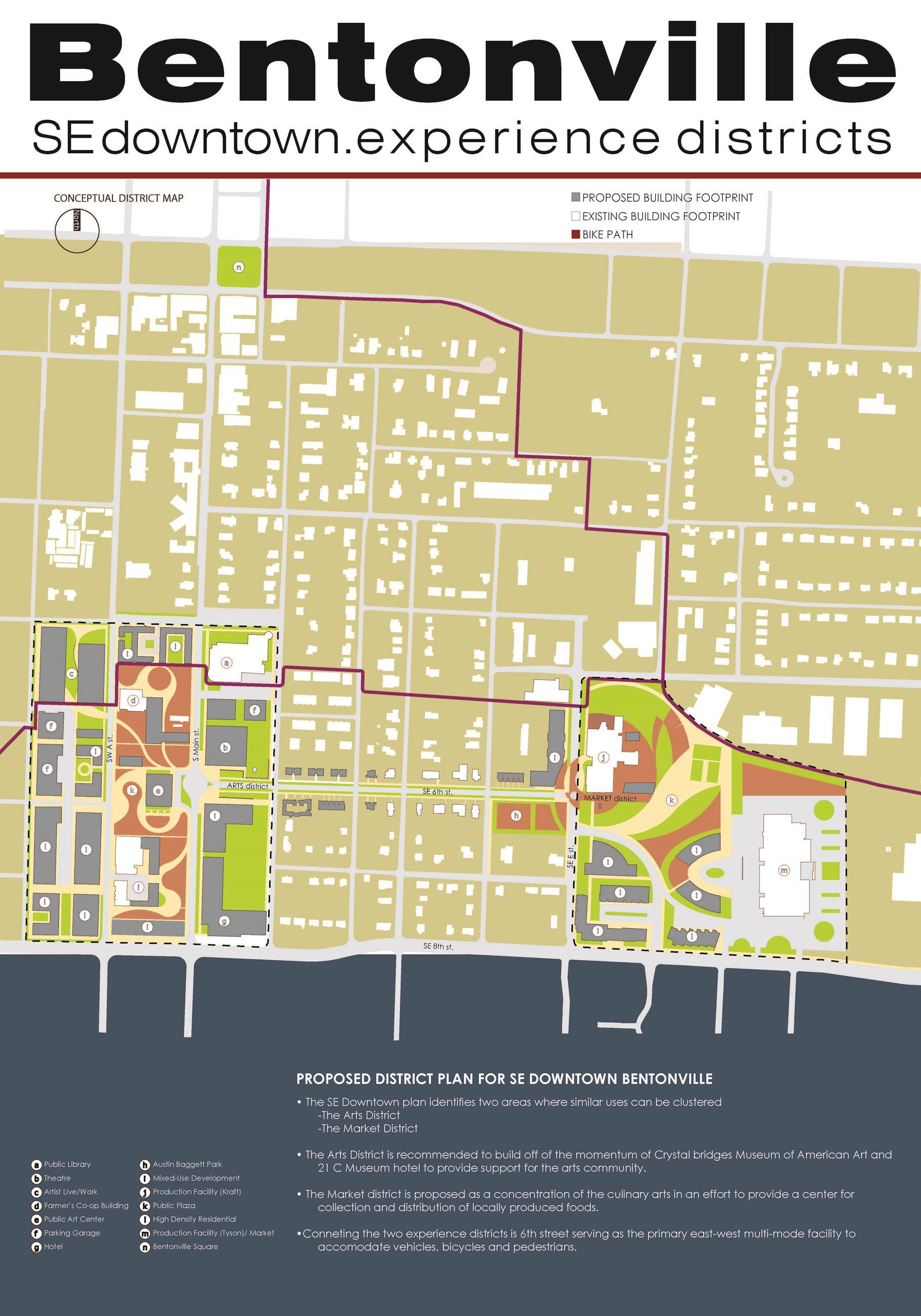 Se Downtown Area Plan Bentonville Ar