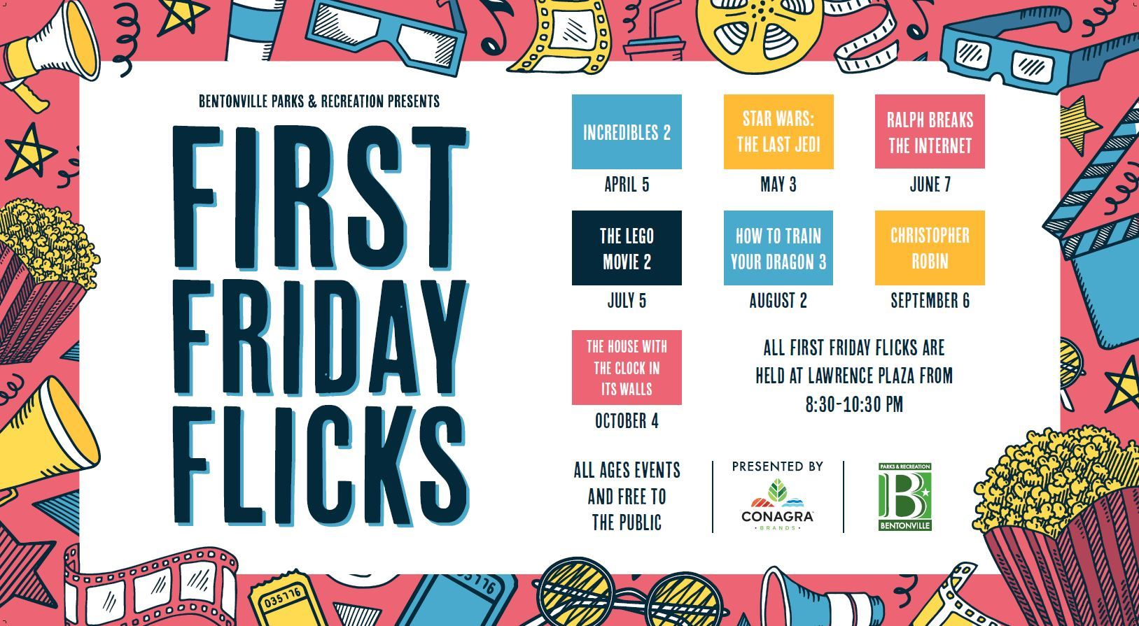 First Friday Flix 2019 Schedule