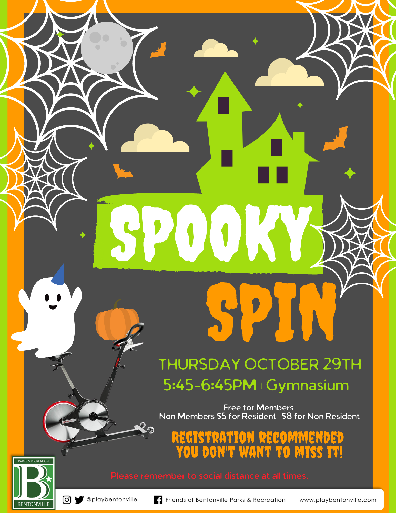 Spooky Spin Flyer